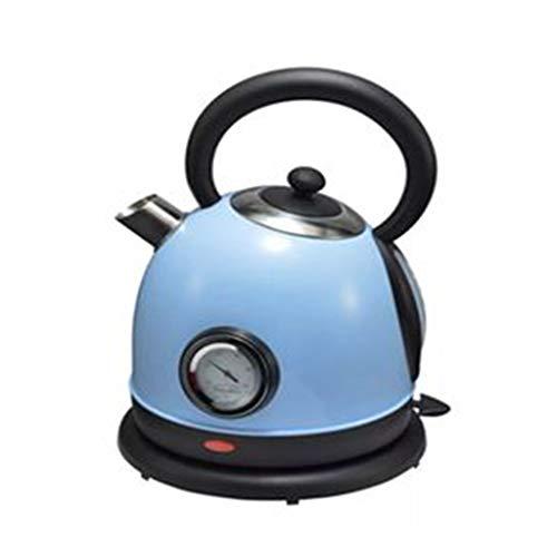 GG.S Rétro électrique automatique de maison de bouilloire européenne à l'arrêt avec l'acier inoxydable 304 de thermomètre (Color : Blue)