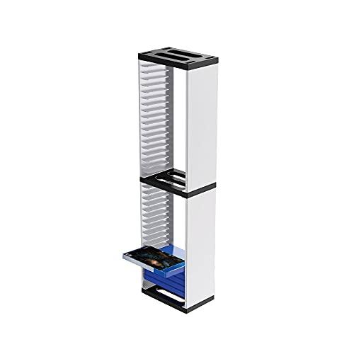 Feicuan Multifunktional Games Tower Disc Aufbewahrung Ständer Spiele Regal für bis zu 36 PS5 PS4 Slim/Pro, Xbox One Slim,Switch Spiele oder Blu Rays