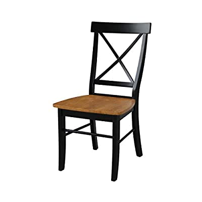 International Concepts X-Back Chair - with Solid Wood Seat