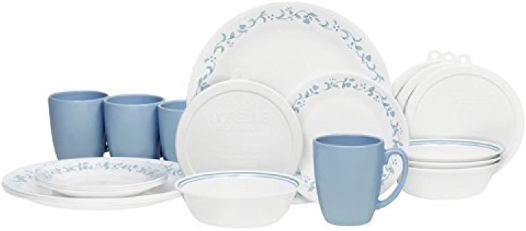Corelle Livingware 32 Piece Country Cottage Dinnerware Set Service For 8 By Corelle Coordinates