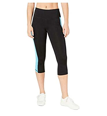 Ideology Colorblocked Cropped Leggings, Black S