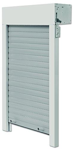 Schellenberg 20097 Aufsatzrollladen Komplett-Set für Fenster zum selbst montieren – 80 x 100 cm, Rolladen zum nachrüsten, inkl. Welle, Vorbaukasten, Führungsschienen, Panzer etc.