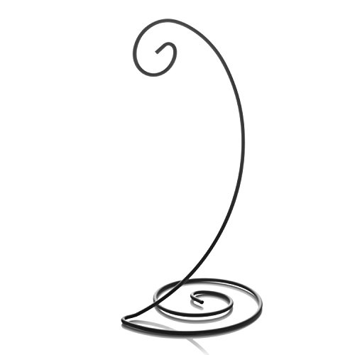 10' Spiral Ornament Display Stand - Black