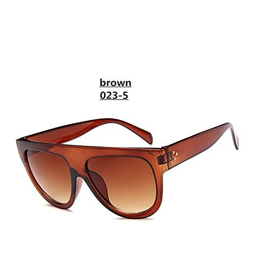 Gafas de sol Lady Plano Top Gafas de sol de gran tamaño Mujeres Retro Femeninas Femeninas Grandes UV400 Gato Ojo Gafas de sol Remache Electroplado Remache Gafas de sol Trasas producto al aire libre