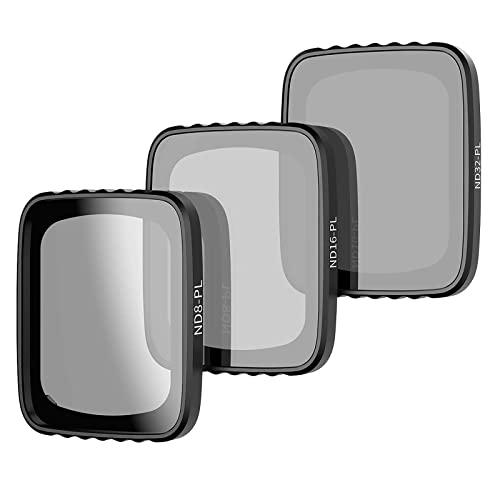 TELESIN - Filtri a densità neutra ND 32/16/8, compatibili con filtri per obiettivo drone DJI Airs 2s (ND-PL 32/16/8)