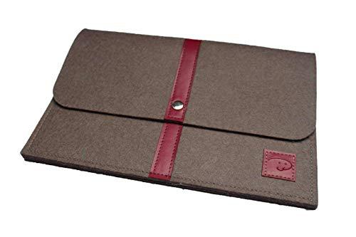 Dealbude24 Schöne Tablet Tasche aus Wolle passend für Trekstor Surftab Theatre S11, Stoßfeste Tablet Hülle für Büro, Reise, Uni & zu Hause Davii in groß Rot