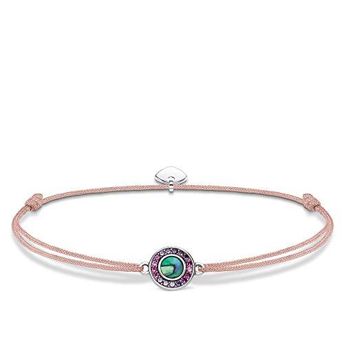 Thomas Sabo Damen-Armband Little Secret Abalone Perlmutt 925er Sterlingsilber geschwärzt LS075-297-7-L20v