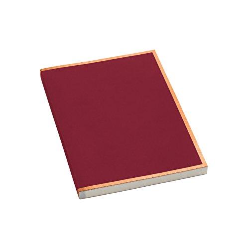 Semikolon (355812) Notizbuch metallic A5 Kupfer-Kante burgundy (dunkel-rot) liniert - Mit 200 perforierten Seiten - Efalineinband mit Metallic-Effekt