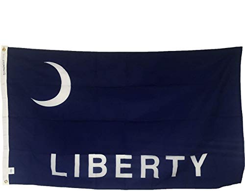 3x5' Historic Fort Moultrie LIBERTY Flag - Outdoor All Weather Nylon - Made in USA