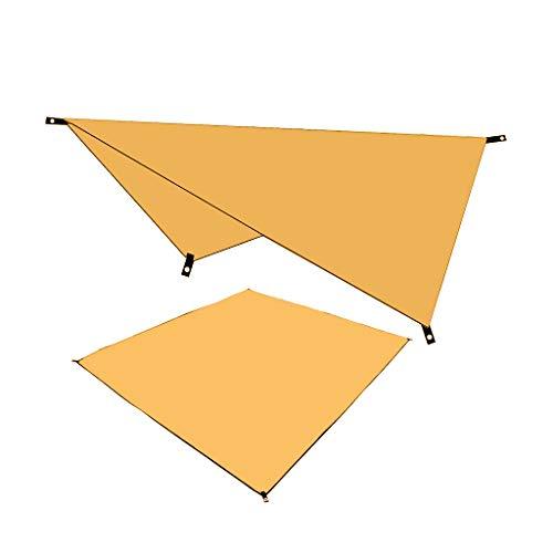 Blingko Wasserdichter Sonnenschutz UV Multifunktionales Canopy Camping Sonnendach im Freien Feuchtigkeitsbeständige Matte Trekking Tarp Leicht 210X150CM Sonnensegel (Orange)