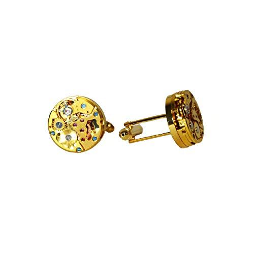 Manschettenknöpfe Herren Uhr Zahnräder Mechanisches Uhrwerk Manschettenknöpfe Steampunk Herren Handgemachtes Cufflinks Für Männer Geschenkbox Für Männer