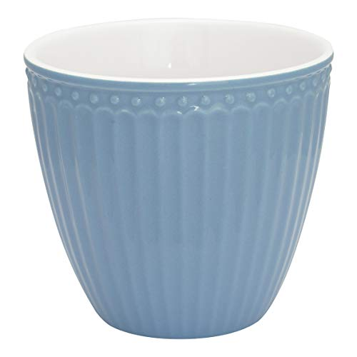 GreenGate - Tasse, Latte Cup - Alice - Porzellan - Sky Blue - 300 ml