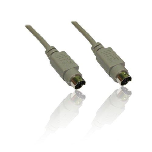 CDL Micro 10 m PS/2 6Pin Mannelijke naar 6 Pin Mannelijke Kabel - Grijs