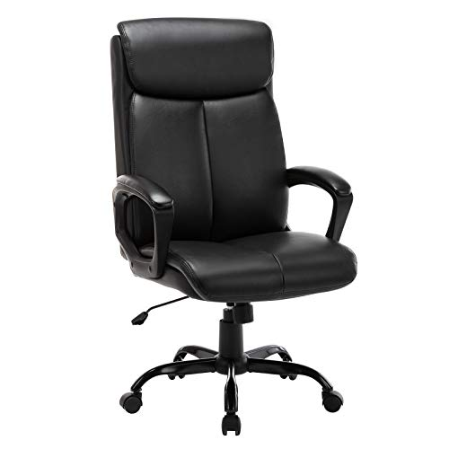High Back Office Chair - Executive Bonded Leather Computer Desk Swivel Task...