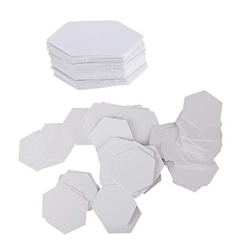 Colcolo 200 Stück Hexagon Englisch Papier Stückung Steppvorlagen Schablonen