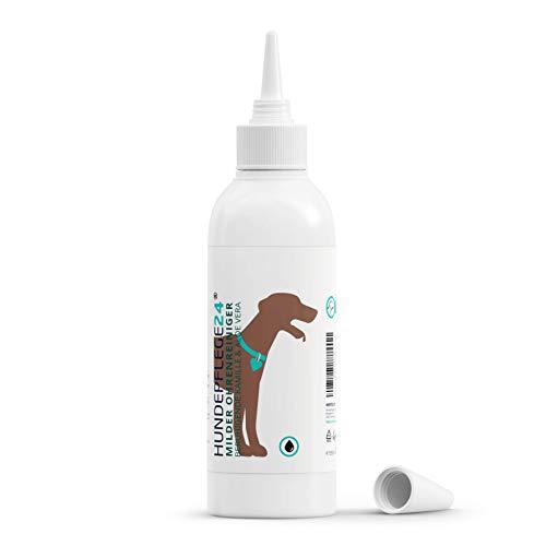 HUNDEPFLEGE24 - Ohrenreiniger Hund 250ml - Natürliche Ohrentropfen für Hunde & Katzen mit Kamille + Aloe Vera - Ohrenpflege & Ohrenreinigung gegen Juckreiz, Entzündungen, Kopfschütteln & Gerüche