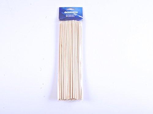 env 100 pics à brochettes bois 30cm