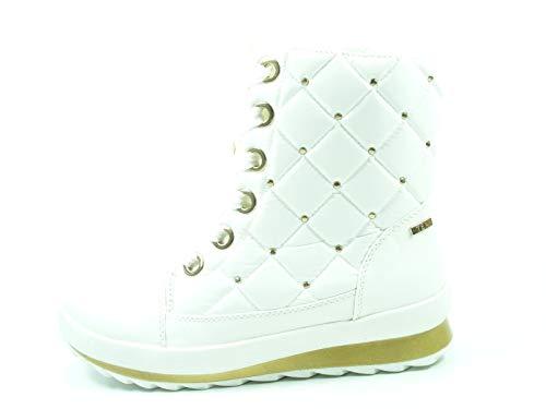 CAPRICE 9-26204-29 Schuhe Damen Plateau Schnür Boots Stiefeletten Warmfutter, Schuhgröße:39 EU, Farbe:Offwhite