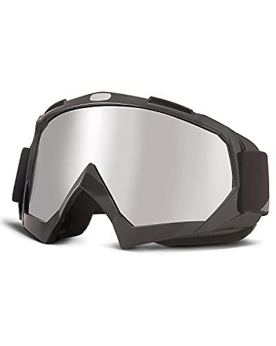 ISSYZONE Motocrossbrille Motorradbrillen Anti UV Crossbrille mit TPU Rahmen und Schaumstoffpolsterung, Motocrossbrille für Outdoor Aktivitäten Skifahren Radfahren Wandern