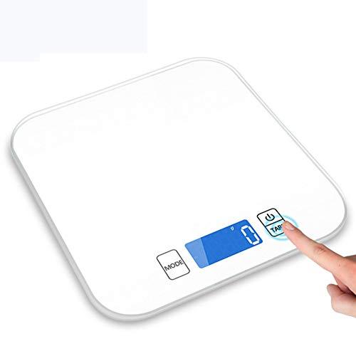 FASSTUREF Báscula electrónica Sensor LED de Alta precisión Pantalla de detección automática Botón táctil Escala Humana Escala de Salud Escala de Peso,Blanco
