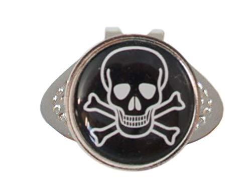 Cap-Clip mit Golfball Marker Totenkopf - Witziges Accessoire für Golfer