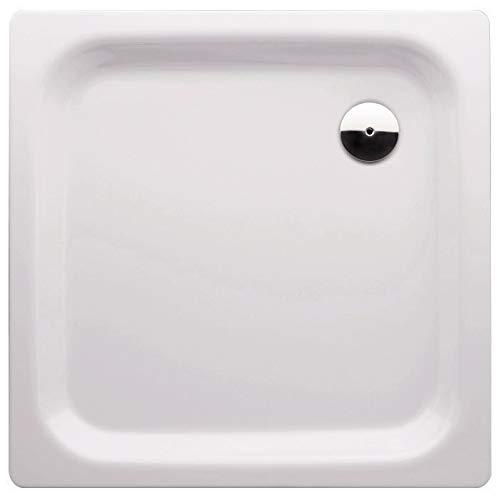 Calmwaters® - Essential - Kleine Quadrat-Duschtasse in 90 x 90 cm aus Stahl-Emaille mit 90 mm Abfluss - 01XP2227