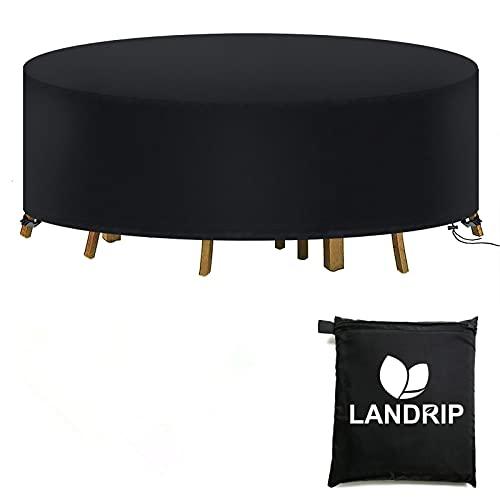 Landrip Conjuntos de Muebles, Rectangular Funda para Muebles de Jardín Round...