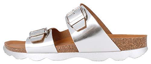 Genuins Padua Leather Silber Leder