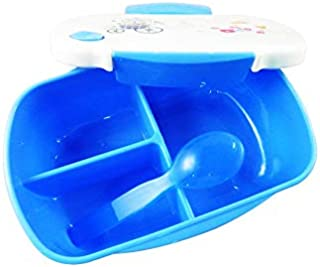 Simple and Attractive Lunch Box For Kids with Spoon in the Box, Leak Proof Insulated Food Storage Box with 3 Compartments ...