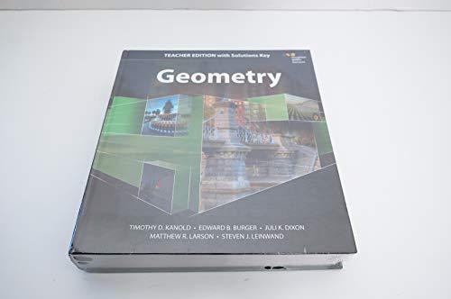 HMH Geometry: Teacher Edition with Solutions 2015 -  HOUGHTON MIFFLIN HARCOURT, Teacher's Edition, Hardcover