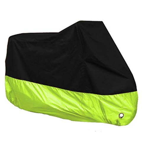 Bike Cover Compatible with motorcycle covers Yamaha YZF-R15, 190T polyester cloth, 10 colors, multi-functional Motorbike Accessories Bicycle Covers (Color : Black+fruit green)