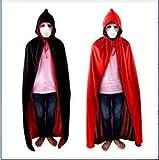 XIANGSHANG Fiesta Disfraces Traje de Terciopelo Traje del Vestido Moxeay Adulto del niño de Halloween Vampiro Negro Rojo Diablo Cabo Capa Fantasía (Color : Hat 120)