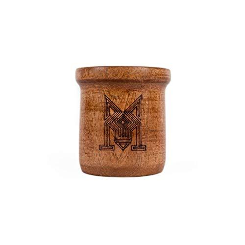 Algarrobo Mate Gourd + Bombilla (Straw) - Yerba Mate Cup