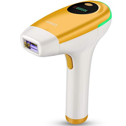 IMENE IPL Haarentfernungsgerät, Dauerhafte Laser Haarentfernung Geräte für Körper, Bikinizone und Achseln, Heimgebrauch Lichtimpulse IPL Haarentferner für Frauen und Männer, mit Lichtschutzbrille