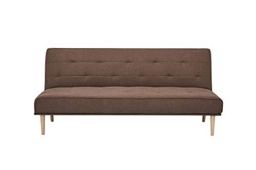 Marca Amazon - Movian Scutari - Sofá cama de tres plazas, 182 x 83 x 81, café