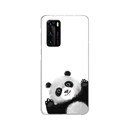 Lindo Panda Funda compatible con Huawei P40 P30 P20 Pro P10 Lite Mate 30 20 10 Carcasa trasera de silicona Coque Cover - C188 (9) - Compatible con Huawei P10 Lite