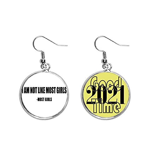 Brincos com citação Joke Most Girls Said Jewelry 2021 Good Luck