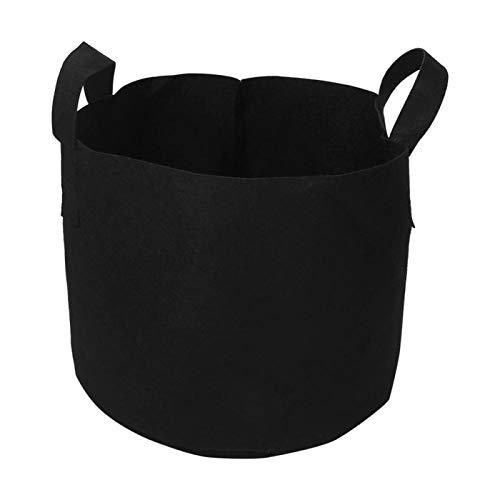 Niiyen Plant Grow Bag, Black Plants Growing Bag Vegetable Flower Aeration Planting Pot Container, 1/2/3/5/7/10 Gallon, Round Shape, with Handles(30 x 37 cm(7 Gallon ))