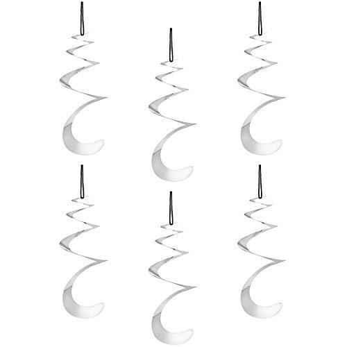 com-four® 6X Vogelabwehr als Windrad Spirale, Taubenabwehr zum Aufhängen, Vogelschreck für Haus und Garten, 23 x 20 cm