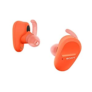 Sony WF-SP800N Truly Wireless Sports in-Ear Noise Canceling Headphones with mic for Phone Call and Alexa Voice Control, Orange (Amazon Exclusive) (WFSP800N/D) (Renewed)