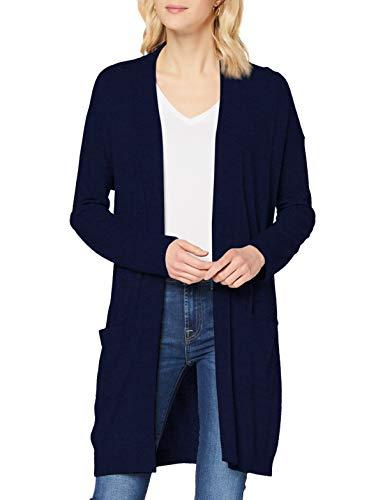 Sisley L/s Maglione Cardigan, Blue 73c, XS Donna