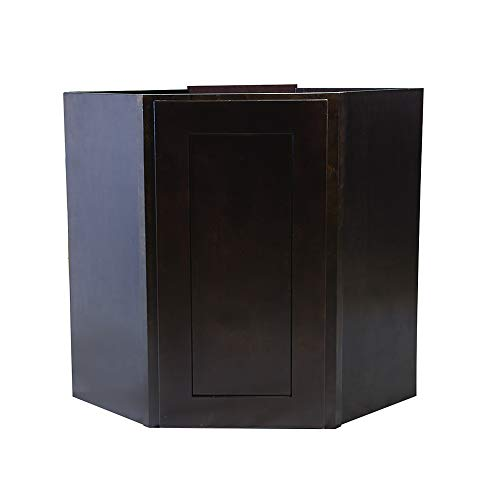 Design House Brookings 24-Inch Corner Wall Cabinet, Espresso Shaker
