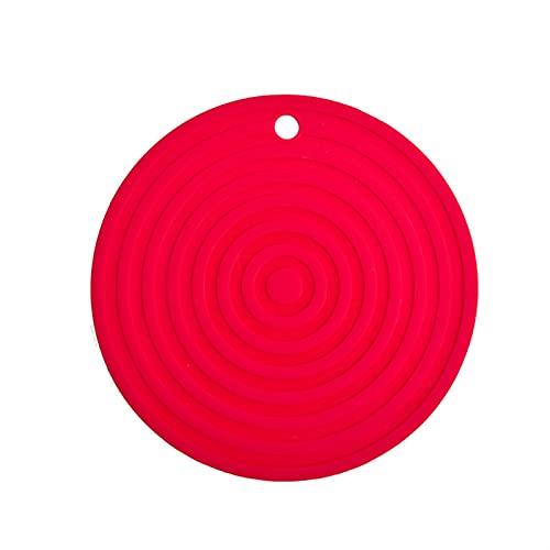 SHUJINGNCE 24cm Big Wheel Drain CANDUGÉ Mat Silicone Tapis antidérapant Tapis de Table Potholder Dish Tapis Ménage Cuisine Accessoires (Color : 01)