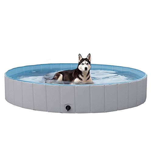 Grey Hard Plastic Dog Pools for Dogs, XXL Now $54