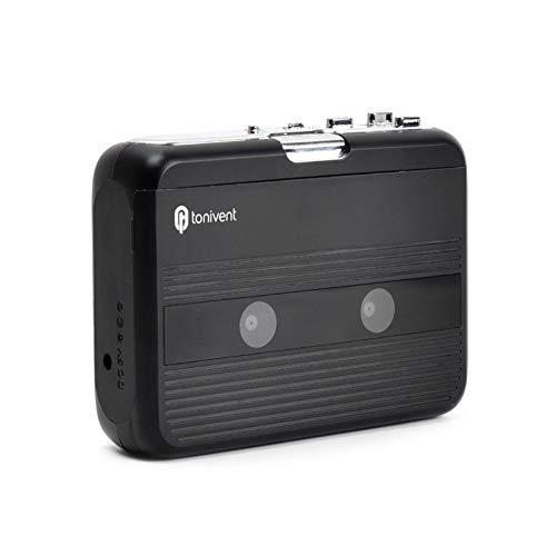 Fesjoy Attrezzatura Audio Professionale,Mini Lettore di Cassette Radio FM Registrazione su Nastro con Controllo del Volume Jack per Cuffie da 3,5 mm