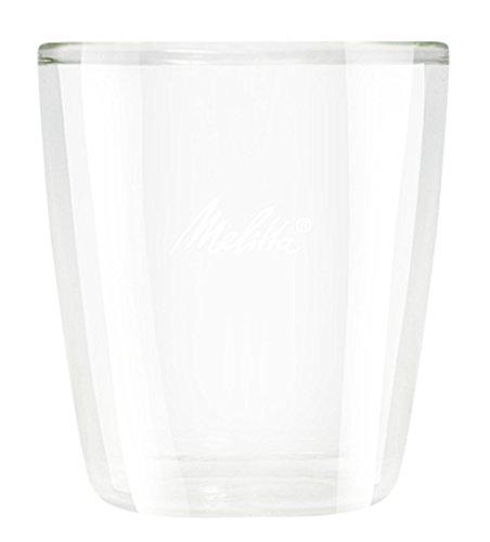 Melitta 4006508212897 Vasos Doble Cristal Pequeños, 0.08 litros, Vidrio, Transparente