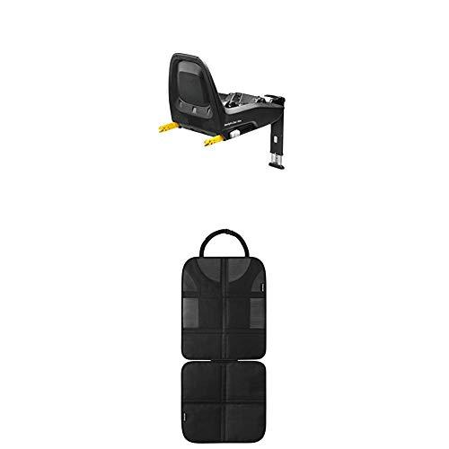 Maxi-Cosi FamilyFix One i-Size Isofix Basisstation, Gruppe 0 Plus/1 (0-18 kg), schwarz + Rücksitzschoner (schnell und einfach zu montieren) schwarz