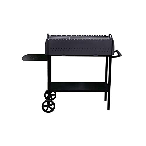 Dm Grill Gr017 Black Steel Mangal 3 Mm Thickness BBQ Portable Outdoor Patio Wheels