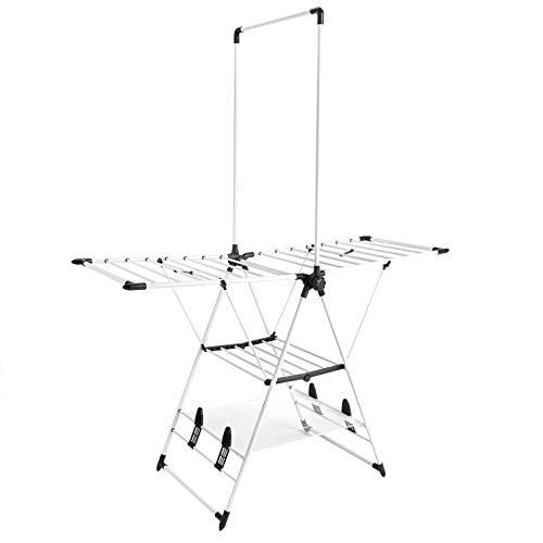 Amazon Basics - Wäscheständer mit Kleiderstange, Flügel-Design