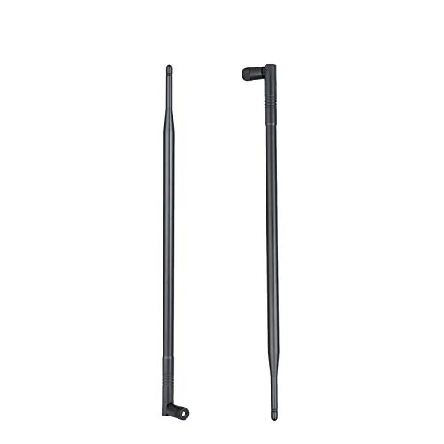 1.3ft 2X 10dBi WiFi Bluetooth Antenna Dual Band Omni Directional Antenna 2.4Ghz/5Ghz with RP-SMA Male Connector for Wireless Wi-Fi Router Network Devices PC Camera Thinkcentre